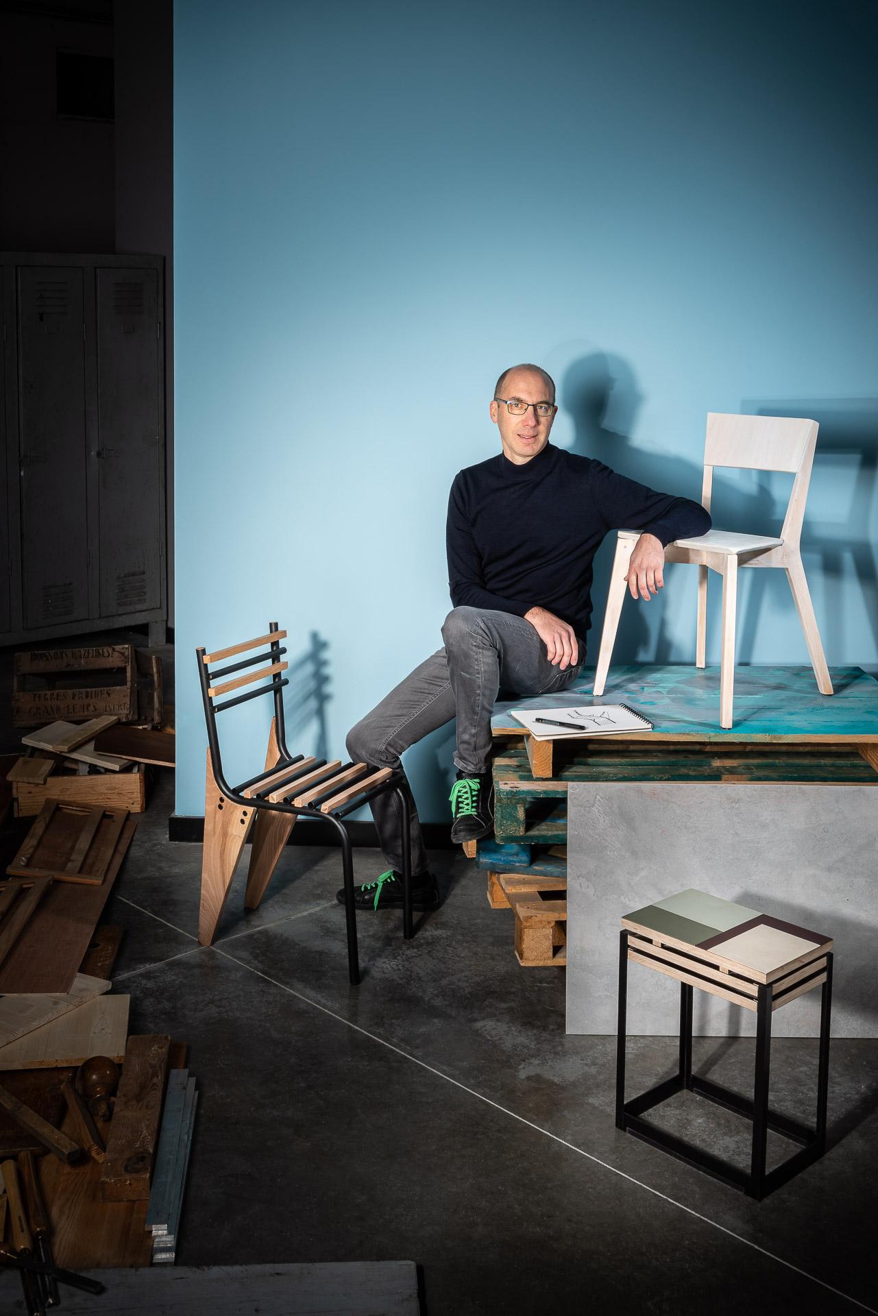 Portrait de Thierry Triolier, designer industriel